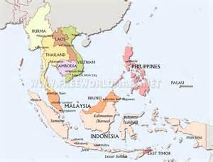 southeast asia map political southeast asia maps