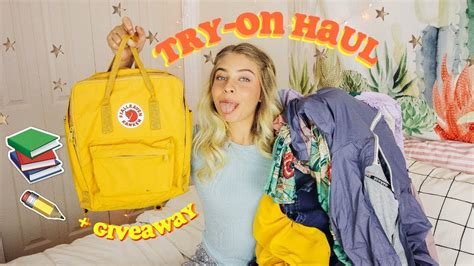Fjallraven Kanken Giveaway - back to school try on haul fjallraven kanken giveaway closed 2017 2018 youtube