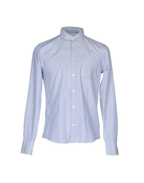 Mauro Grifoni Shirt lyst mauro grifoni shirt in blue for