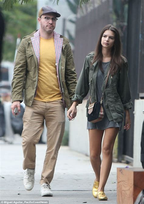 emily ratajkowski and boyfriend jeff magid walk hand in