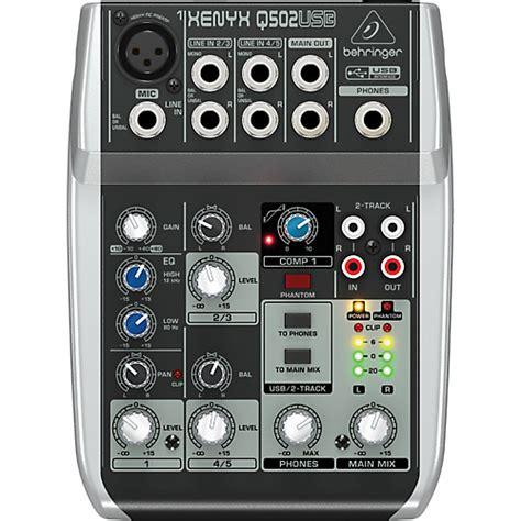 Mixer Behringer Xenyx 502 behringer xenyx q502usb mixer musician s friend