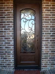 Iron And Glass Front Doors Custom Iron Door