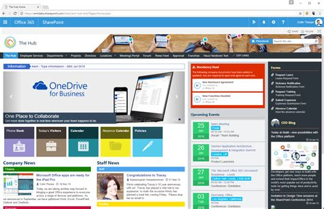 Sharepoint Intranet The Hub Sharepoint Home Page Templates