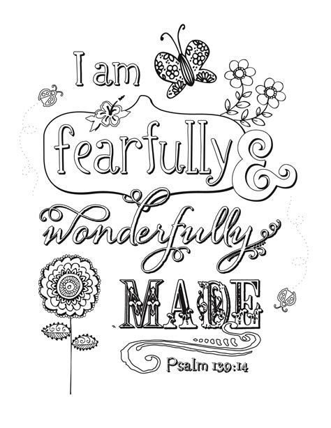 I Am Beautiful Because Card Template by Psalm 139 14 Coloring Pages Coloring Pages
