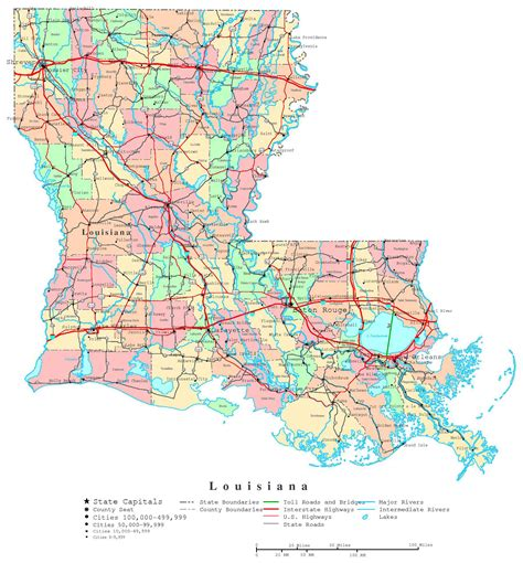louisiana map airports large detailed administrative map of louisiana state with