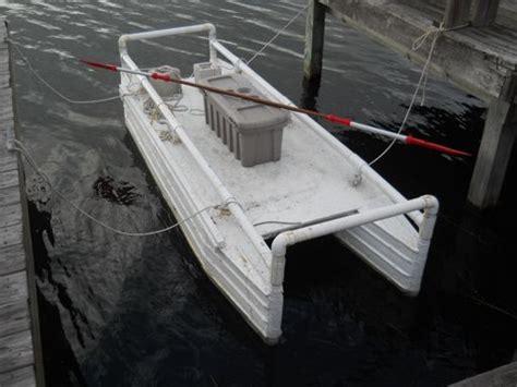 plastic catamaran hull homebuilt pontoon boat double hull kayak homemade toys