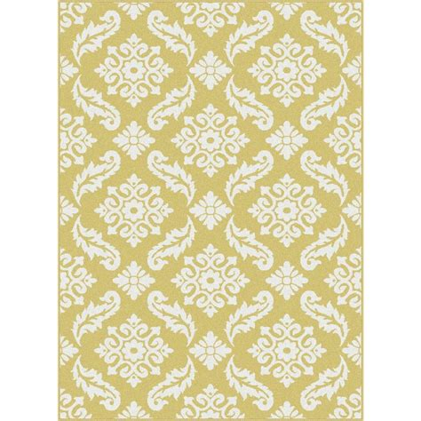 Yellow Area Rug 5x8 Tayse Rugs Metro Yellow 5 Ft 3 In X 7 Ft 3 In Contemporary Area Rug 1103 Yellow 5x8 The