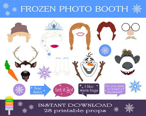 Printable Photo Booth Props Frozen | frozen photo booth props free new calendar template site