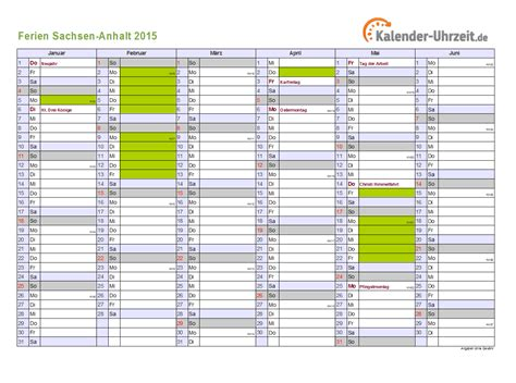 Kalender 2015 Din A4 Ferien Sachsen Anhalt 2015 Ferienkalender Zum Ausdrucken