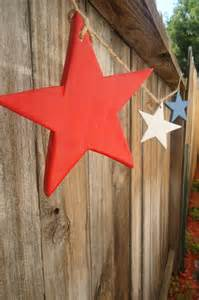 Garland Home Decor by Star Pine Wood Garland Home Decor Fourth Of July 4th Of