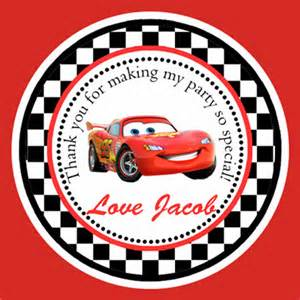 disney cars party cupcake toppers thank you tags printable
