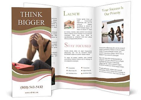 drug addict brochure template design id 0000007634