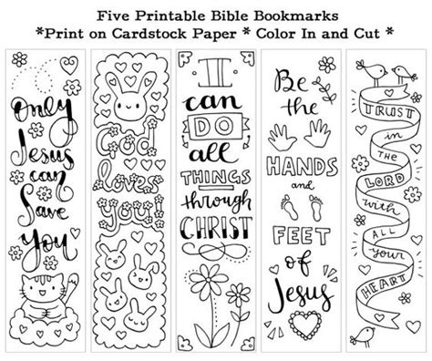 christian bookmarks coloring book 120 bookmarks to color bible bookmarks to color for adults and with inspirational bible verses flower and seniors volume 1 books five instant printable color in bible bookmarks