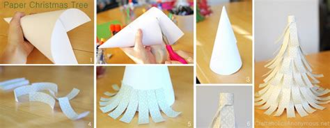 easy paper christmas tree craft with craftaholics