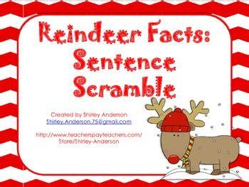 printable reindeer trivia reindeer facts sentence scramble by shirley anderson tpt