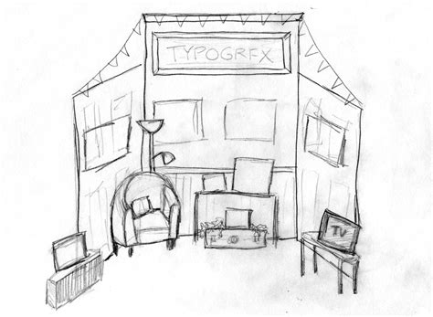 booth design sketch oh faux typogrfx