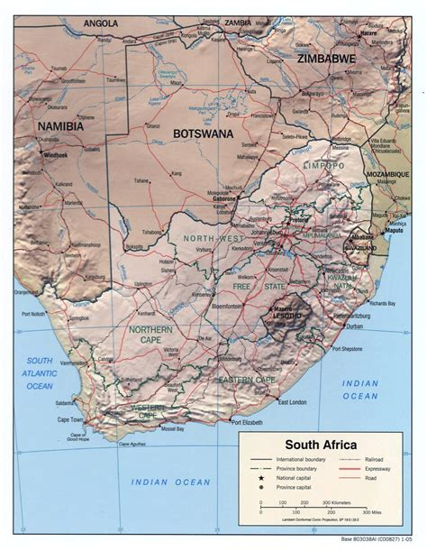 africa map major cities detailed political map of south africa with relief roads