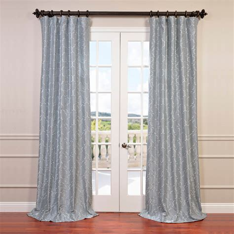 silk embroidered curtains algeirs silver embroidered faux silk curtain