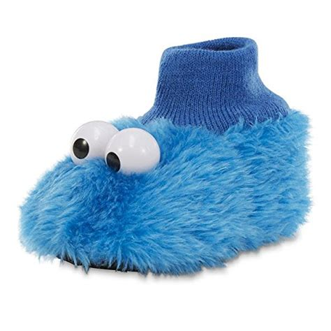best toddler slippers sesame sock top slippers 9 10 m us toddler cookie