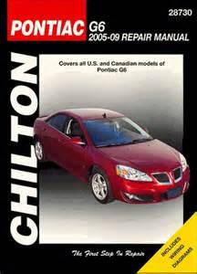 2009 Pontiac G6 Manual Pontiac G6 Repair Service Manual 2005 2009 Chilton 28730