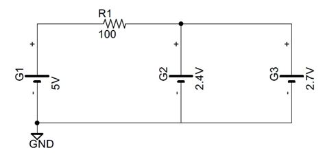 diode in parallel with current source circuit analysis how is current split with two parallel led s electrical engineering stack