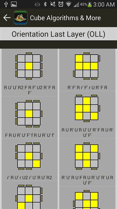 tutorial menyelesaikan rubik cube 3x3 cube algorithms more pro android apps on google play