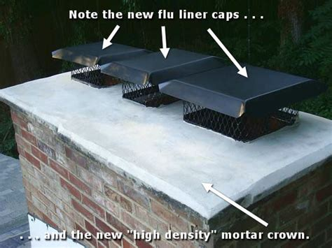 Chimney Mortar Cap Repair - md chimney crown repair