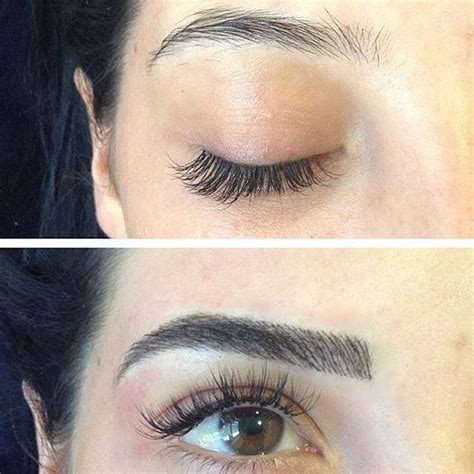 eyebrow tattoo before and after before and after microblading eyebrow tattoos popsugar