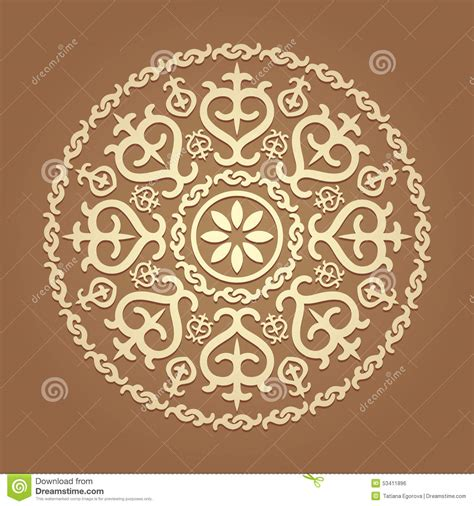 islamic pattern map islamic floral pattern stock vector image 53411896