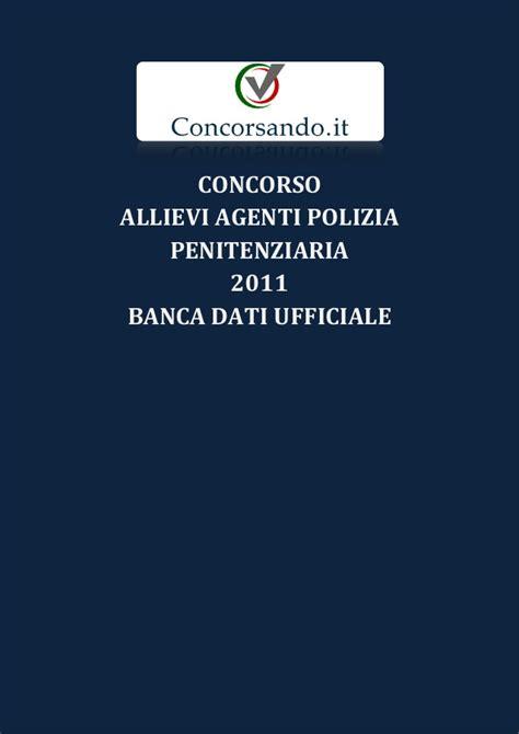 dati concorso polizia penitenziaria concorso allievi agenti polizia penitenziaria 2011