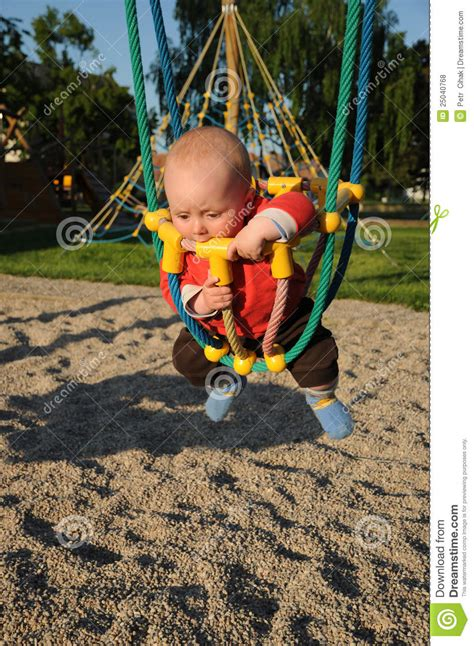 child rope swing little baby in rope swing royalty free stock photos