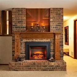 interior interior accent ideas using brick fireplace