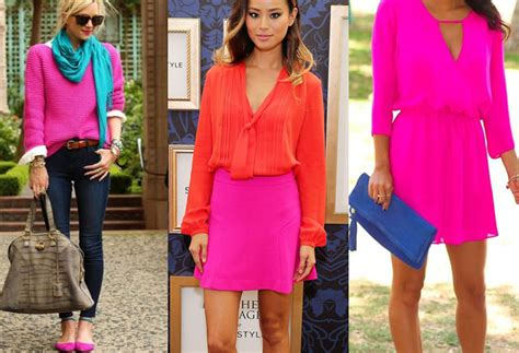 what colour goes with pink colors that go with hot pink clothes outfit ideas