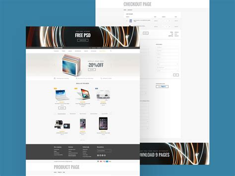 ecommerce psd templates free store website template 72pxdesigns