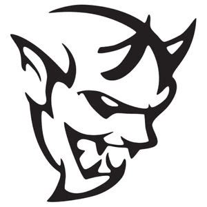 dodge demon srt logo vinyl decal sticker | ebay