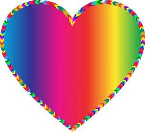 colored hearts clipart multicolored arrows filled