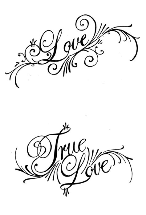 true love tattoo design true ambigram design