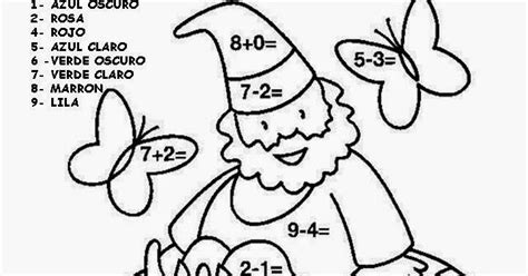 imagenes con operaciones matematicas para colorear educaci 243 n infantil con tic dibujos para colorear de