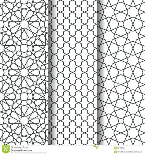 islamic web pattern islamic geometry pattern stock vector illustration of