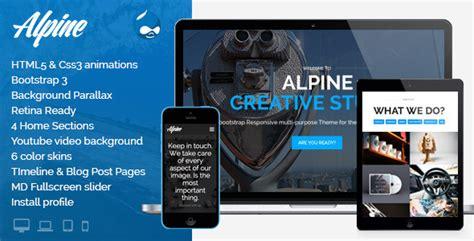drupal theme alpine alpine v3 0 responsive one page parallax drupal theme