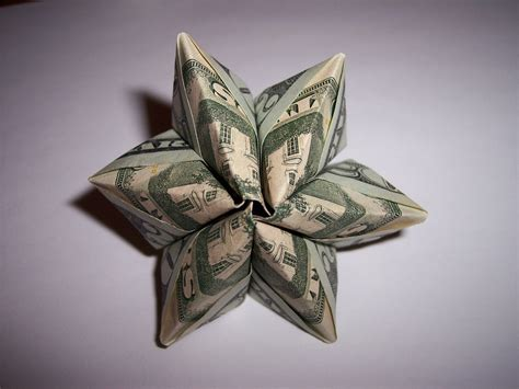 Make Money Origami - dollar origami flower 171 embroidery origami