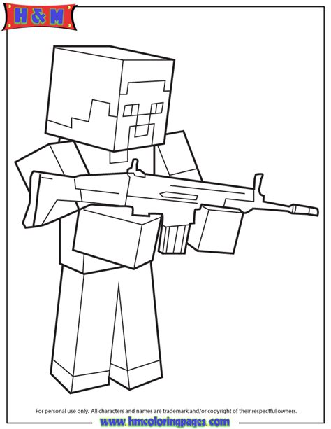 minecraft coloring pages that you can print free coloring pages of minecraft herobrine 4401