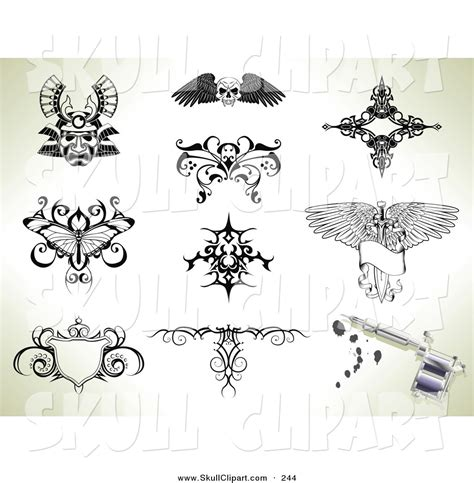 collage tattoo designs royalty free butterfly stock skull designs