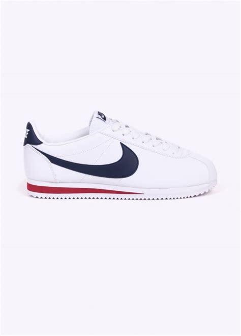 Nike Classic Cortez Leather White Navy nike footwear classic cortez leather white navy