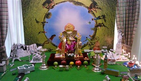 Garden Decoration For Ganpati by Decoration Ideas At Home For Ganpati Ganpati Decoration