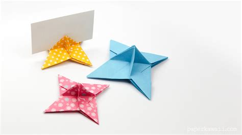 Origami With Stand - origami place card holder paper kawaii
