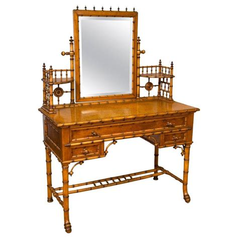 Rj Furniture by Bird S Eye Maple Faux Bamboo Dressing Table And Chair By R