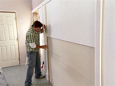 wall paneling with fluted molding hgtv
