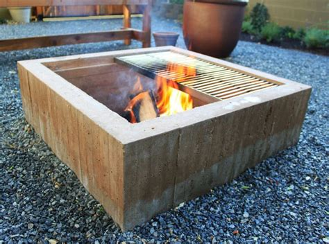 square concrete fire pit google search back yard