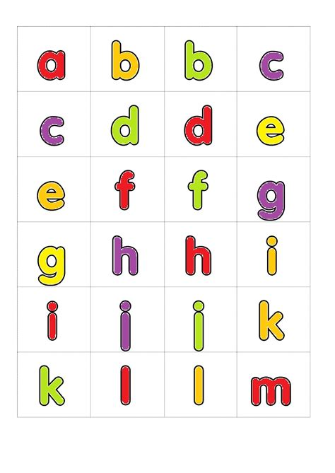 Printable Alphabet Letters Small | small alphabet letters printable activity shelter